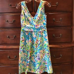 Lilly Pulitzer stretch colorful cotton dress
